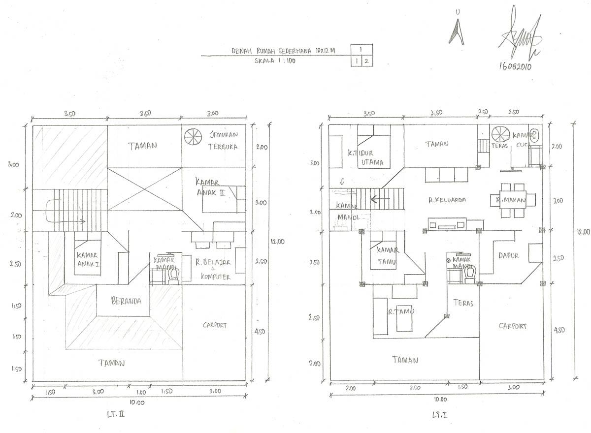 Image Result For Sketsa Rumah Type
